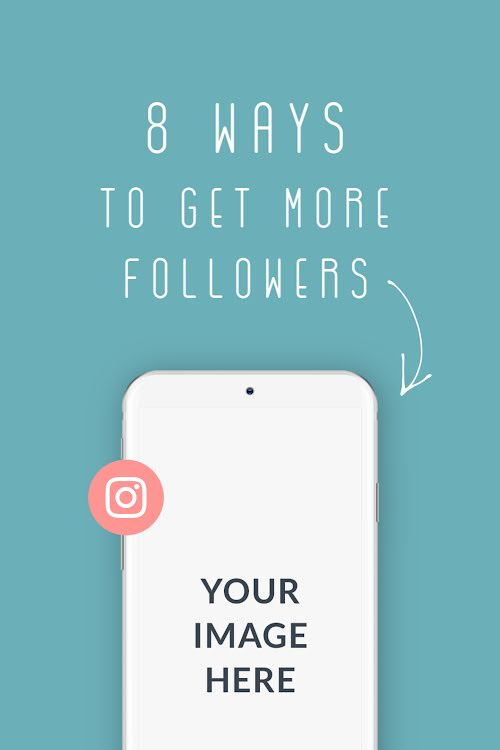 More Followers Phone Mockup - Pinterest Pin Template