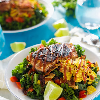 BBQ Salmon Salad with Honey Chipotle Vinaigrette
