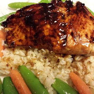 Glazed Salmon.