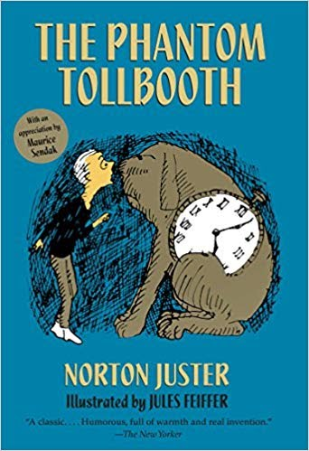 Original cover of The Phantom Tollbooth published in 1988 ( source: https://www.amazon.com/Phantom-Tollbooth-Norton-Juster/dp/0394820371 )