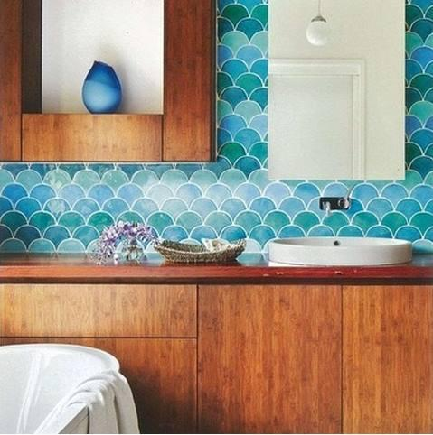 浴室のタイルデザイン