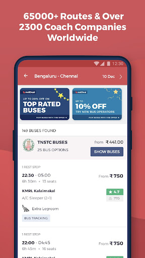 redBus - rPool Online Bus Ticket Booking App India screenshot 2