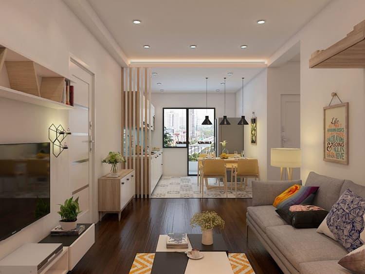 Thiết kế phòng khách chung cư nhỏ đơn giản