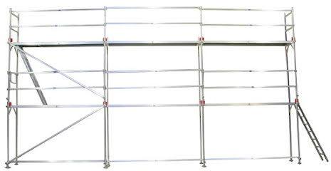 Fasadställning ALU Jumbo Superflex 4 x 9m