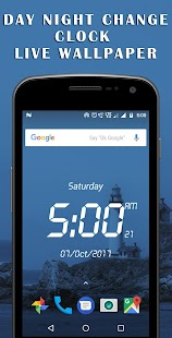 Day night changing clock live wallpaper - náhled