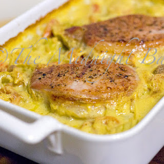 Baked Pork Chops on Rice