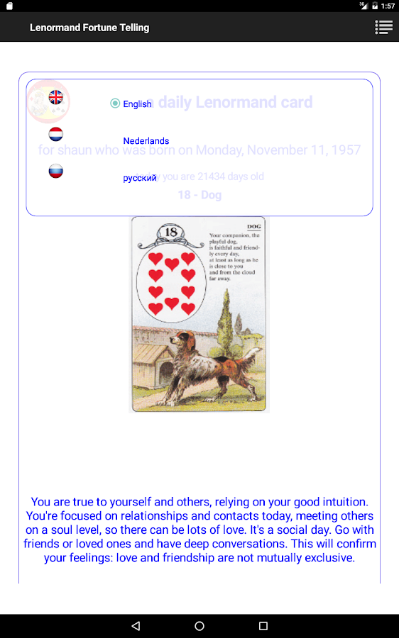 Lenormand Fortunetelling- screenshot