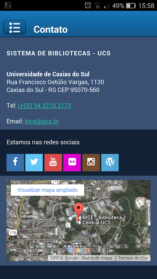 UCS Biblioteca- screenshot