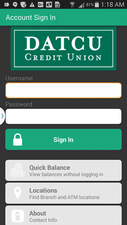 DATCU Mobile Banking- screenshot