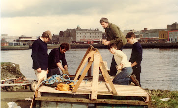 Photo: Preparing for the Raft Race