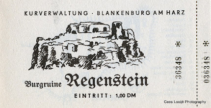 Photo: Blankenburg. Burchtruïne Regenstein. Ticket.
