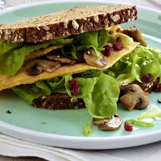 Mushroom Omelet Sandwich.