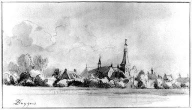 Photo: 1850 Zicht op Princenhage