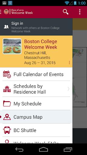Boston College Welcome Week