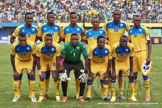 Photo: Starting Team [Rwanda vs Gabon, CHAN - Group A, 20 Jan 2016 in Kigali, Rwanda.  Photo © Darren McKinstry 2016, www.XtraTimeSports.net]