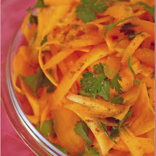 Cool, Crispy Carrot And Coriander Salad.