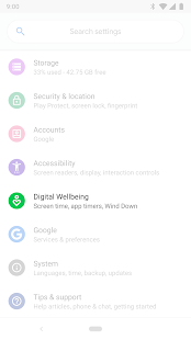 Digital Wellbeing Screenshot