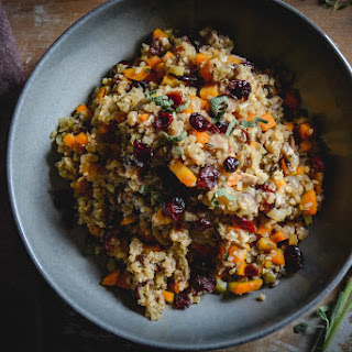 Cauliflower Cranberry Sage Stuffing.