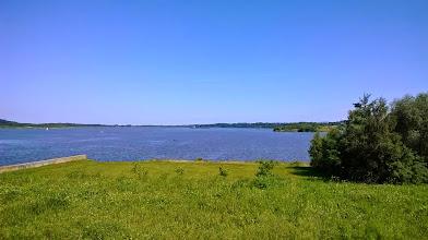 Photo: przenoska i jezioro Paczkowskie