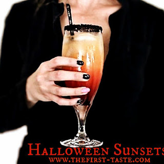 Spooky Halloween Sunset Cocktails