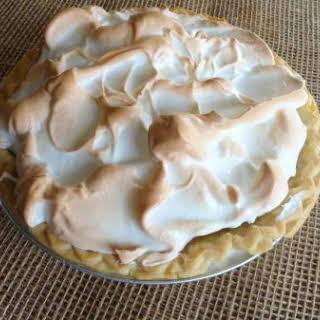 Coffee Meringue Cream Pie.