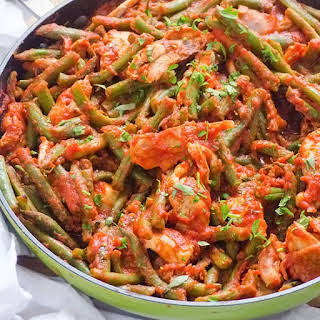 Saucy Green Beans and Chicken.