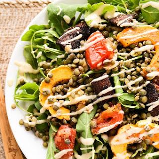 French Lentil & Roasted Vegetable Salad.