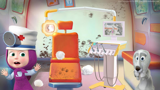 Masha and the Bear: Free Dentist Games for Kids apkpoly screenshots 5