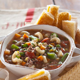 Jamie's Vegetable Soup with Grilled Cheese Sandwich Dunkers.