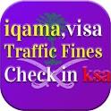 Iqama,Visa, Traffic Fines Check in Saudi Arabia icon