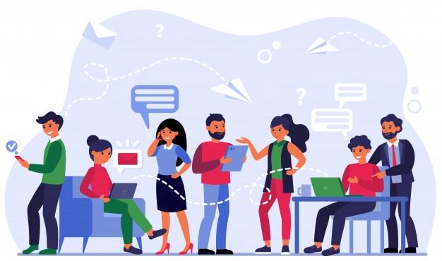 Ilustrasi networking dalam berbisnis online