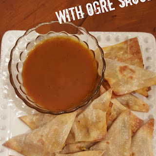 BBQ Chicken Won Tons with Ogre Sauce Recipe