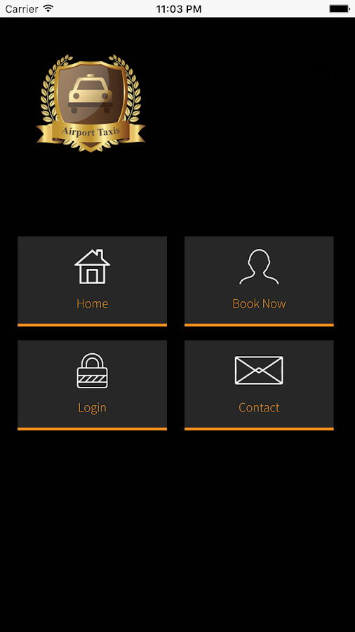 Airport Taxis App- screenshot
