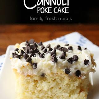 Cannoli Poke Cake.