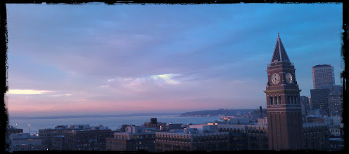 Photo: Just before one of the most amazing Seattle Sunsets I have ever seen.