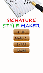 Signature Style Maker screenshot 0