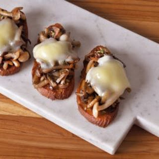 Crispy Mushroom & Taleggio Crostini.