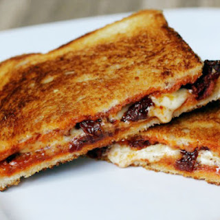 Grilled Cheese Sandwich with Sun-Dried Tomatoes and Harissa.