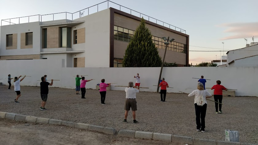 Participantes en las actividades deportivas.