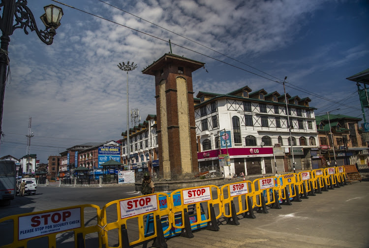 A deserted view of the city center, during a curfew in Srinagar, the summer capital of Indian administered Kashmir, India. Picture: Yawar Nazir/Getty Images