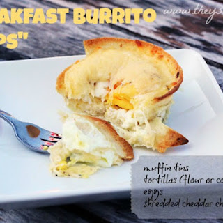 "Easy Breakfast Burrito ""Cups"" with gluten-free option"