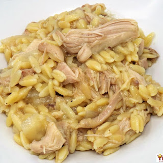 Slow Cooker Lemon Chicken and Orzo.