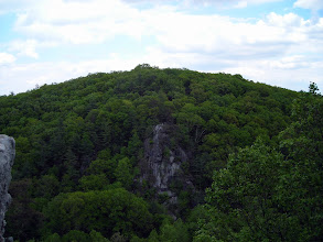 Photo: View across the canyon from theKing and Queen Seat in Rocks State Park