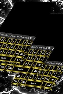 Žlutá neonová klávesnice - náhled
