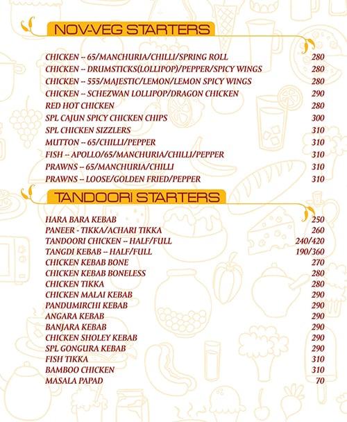 Hyderabad Chefs menu 2