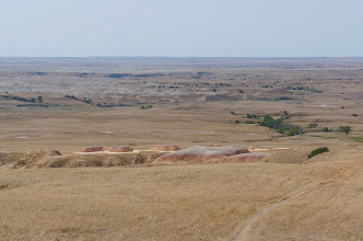 Photo: The landscape as we approach Badlands N P.