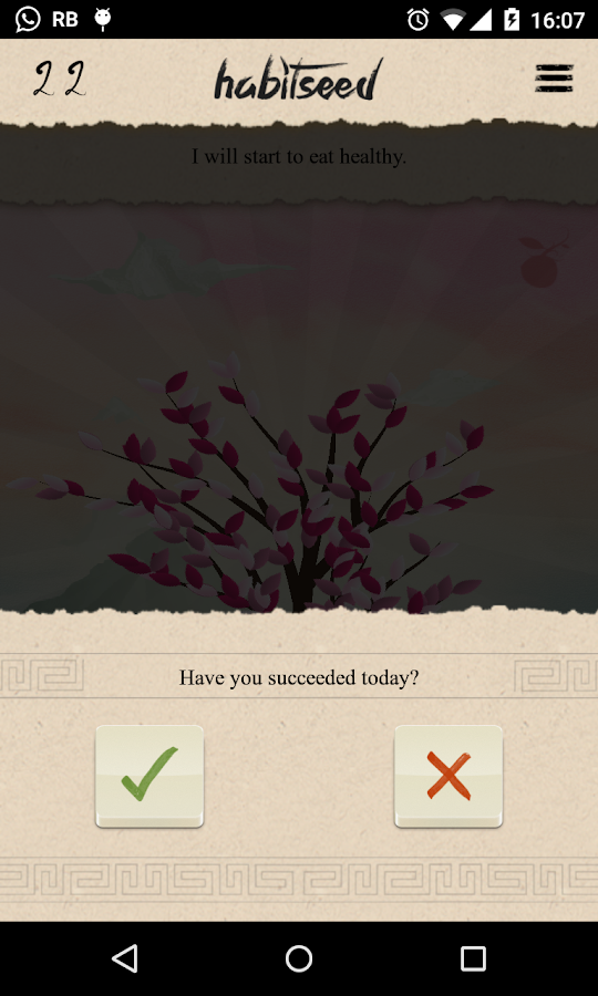 Habitseed- screenshot