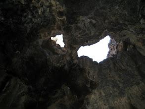 Photo: Inside the lava cave