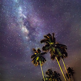 3 standing tall above all  by Najmi Rooslan - Landscapes Starscapes ( malaysia. nightscape, d7000. selangor, uwa, nikon, tokina, 11-16, milky way )