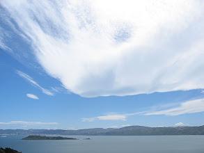 Photo: Wave cloud over Wellington Harbour - 3:05pm, 12-Dec-04